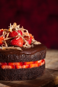 Chocolate strawberry cake